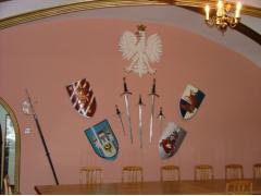 Miniatura zdjęcia: Sala Rycerska tarcze