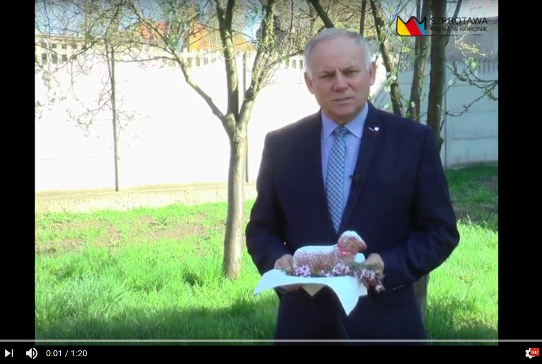 Ilustracja do informacji: Życzenia wielkanocne od Burmistrza Szprotawy.