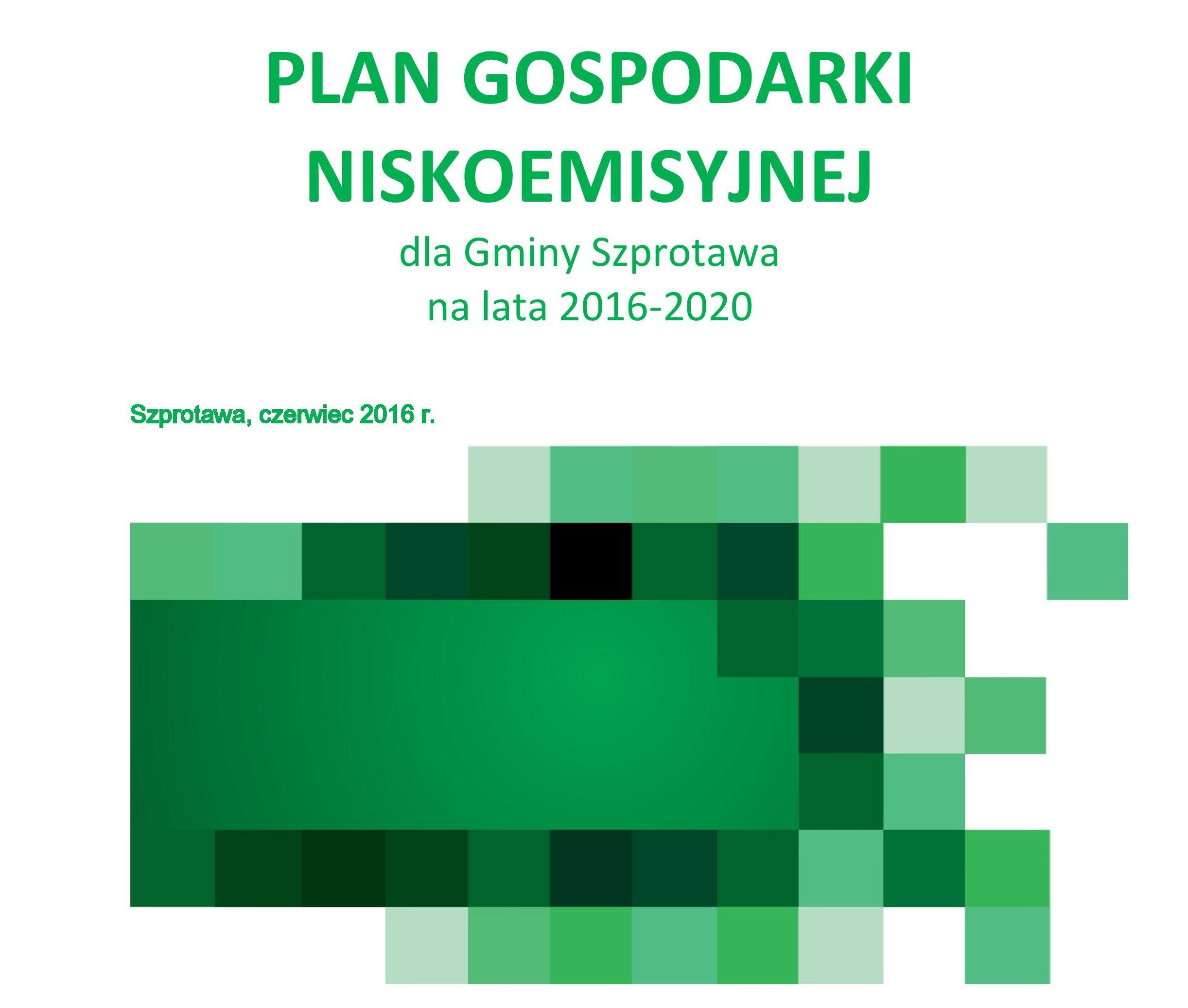 Ilustracja do informacji: Plan Gospodarki Niskoemisyjnej dla Gminy Szprotawa na lata 2016-2020