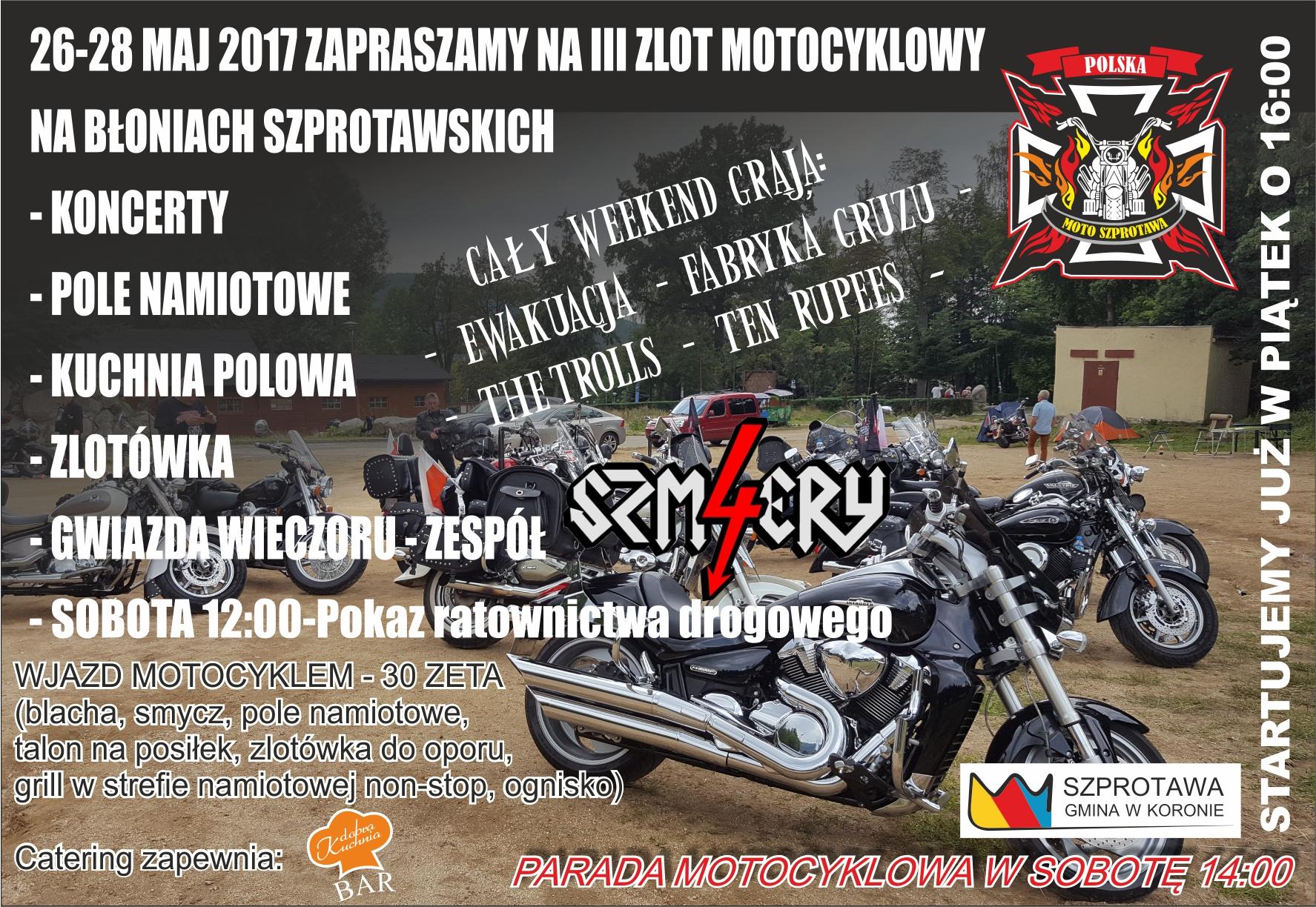 """Ilustracja do informacji: To już III """"Zlot Motocyklowy"""" w Szprotawie"""