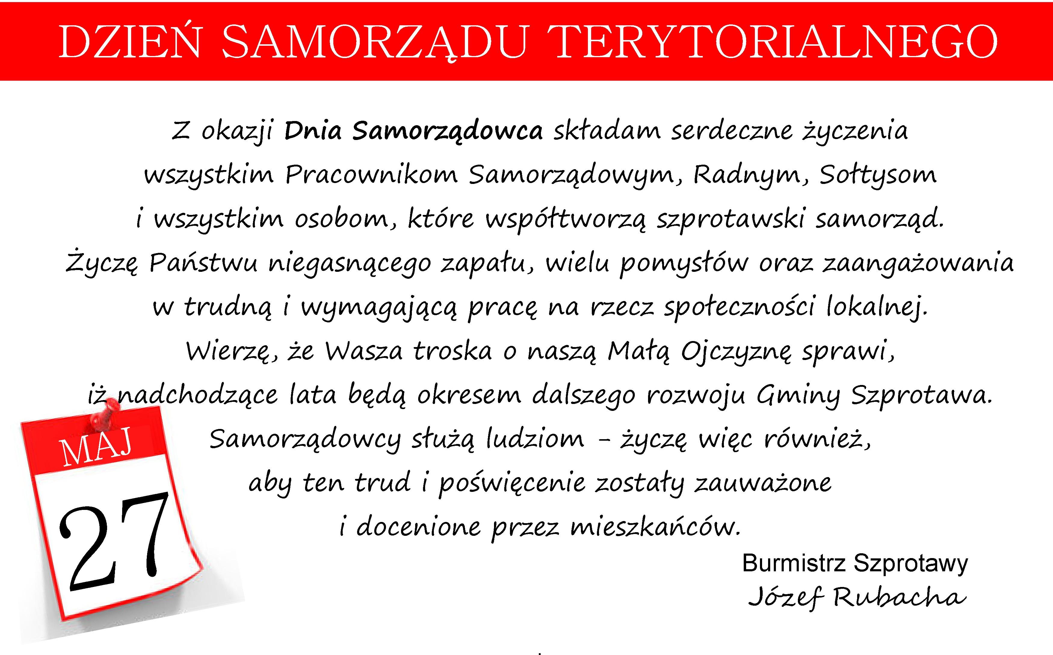 Ilustracja do informacji: 27 maja - Dzień Samorządu Terytorialnego