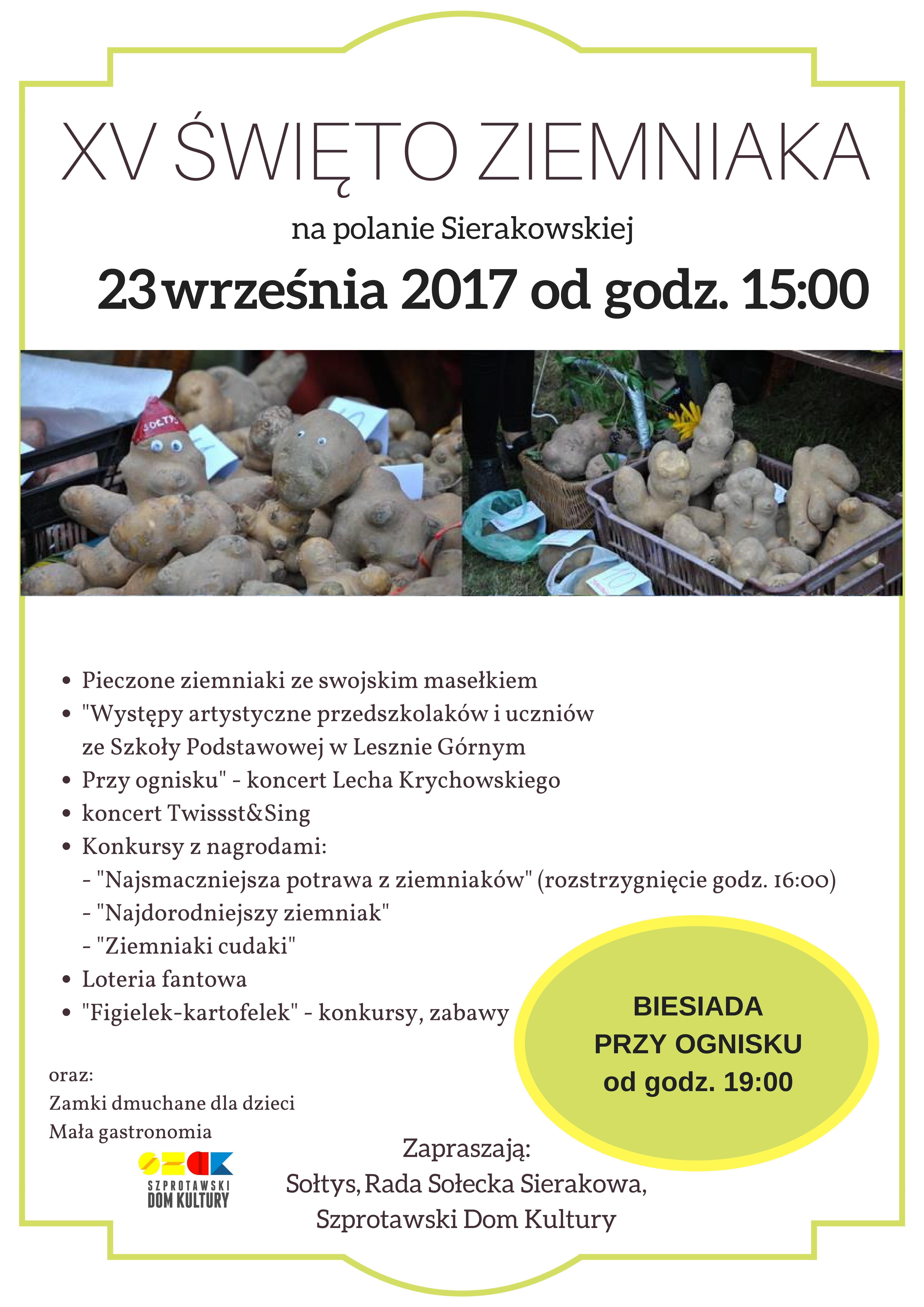 Ilustracja do informacji: XV Święto Ziemniaka w Sierakowie