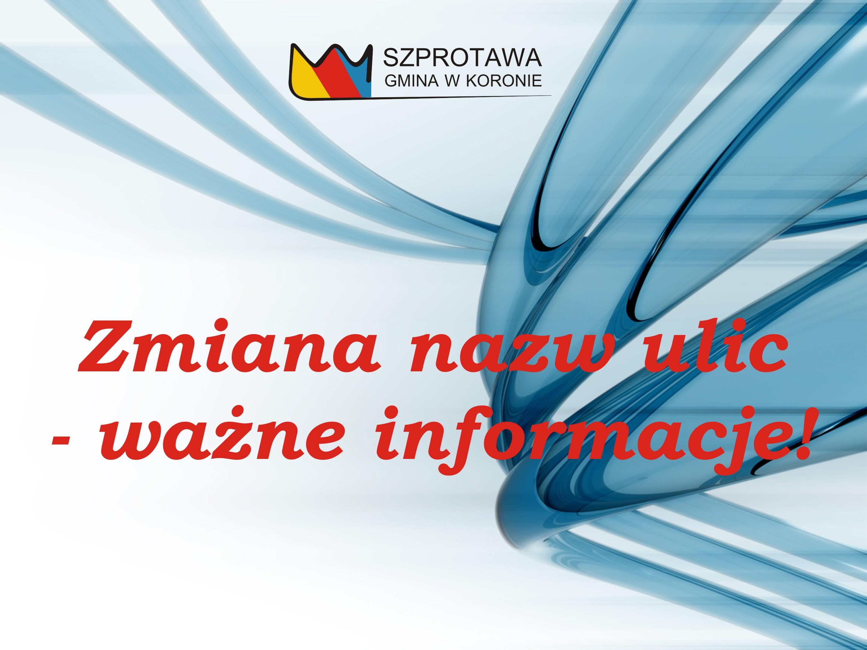 Ilustracja do informacji: Zmiana nazw ulic – ważne informacje!