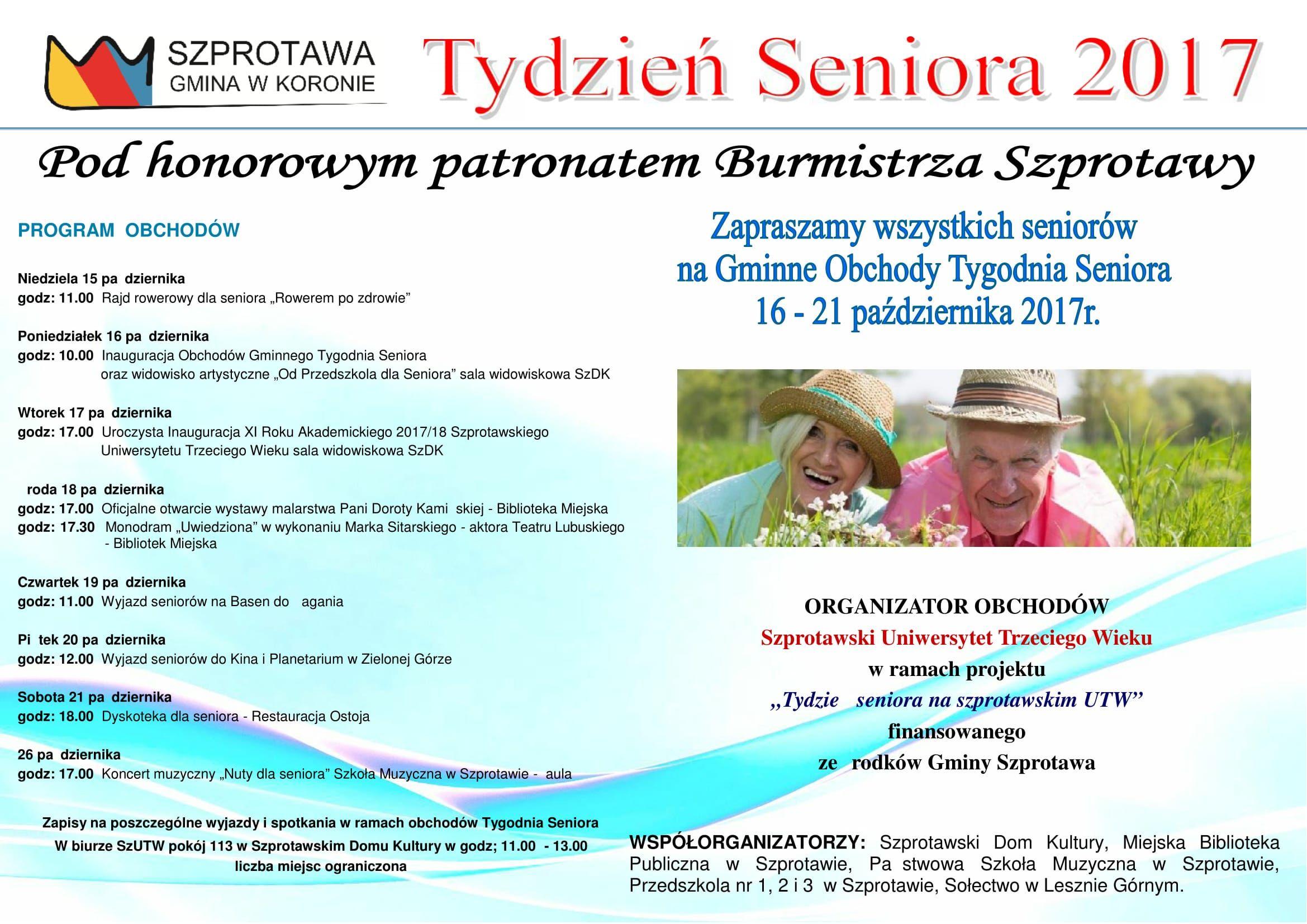 Ilustracja do informacji: Zaproszenie na obchody Tygodnia Seniora 2017