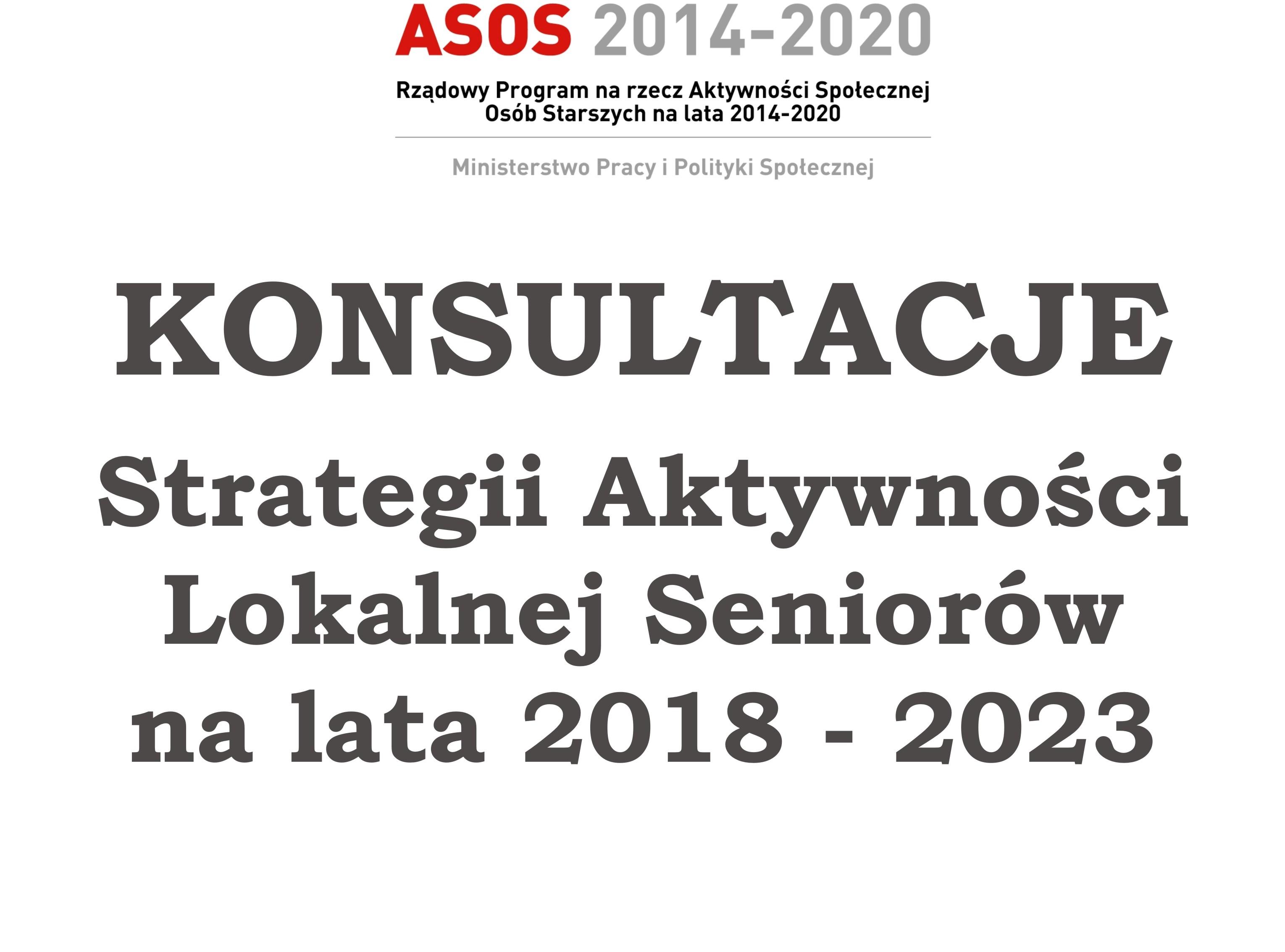 Ilustracja do informacji: Konsultacje Strategii Aktywności Lokalnej Seniorów