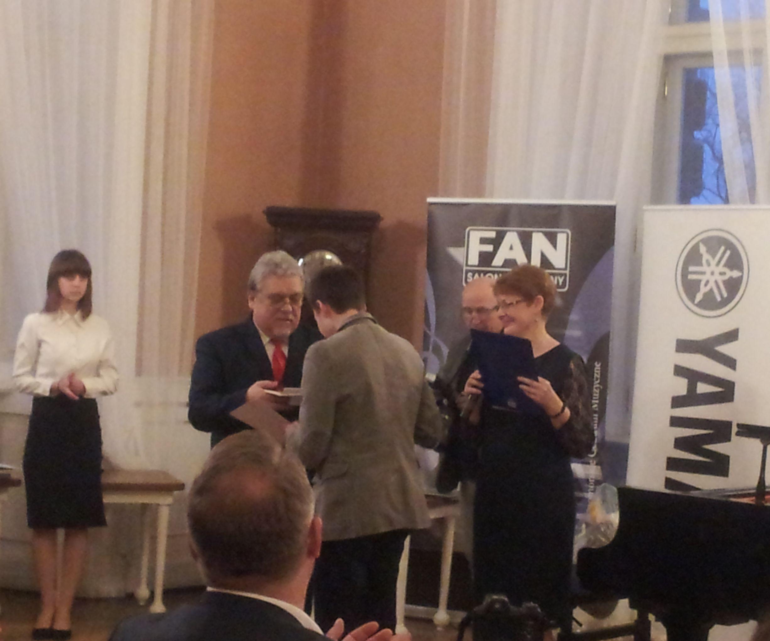 Ilustracja do informacji: Hubert Boczniewicz laureatem Ogólnopolskiego Turnieju Pianistycznego im. Haliny Czerny – Stefańskiej