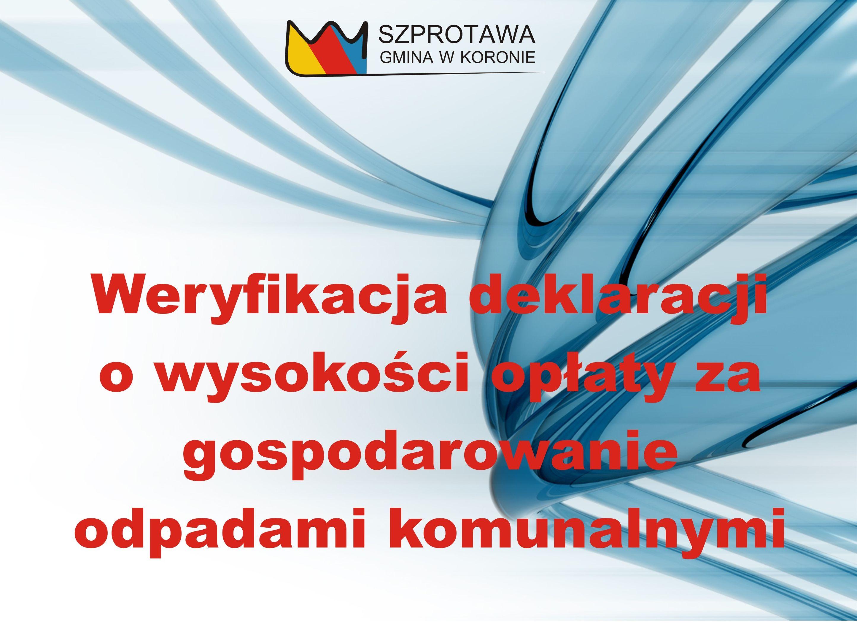 Ilustracja do informacji: Weryfikacja liczby mieszkańców podanej w deklaracjach