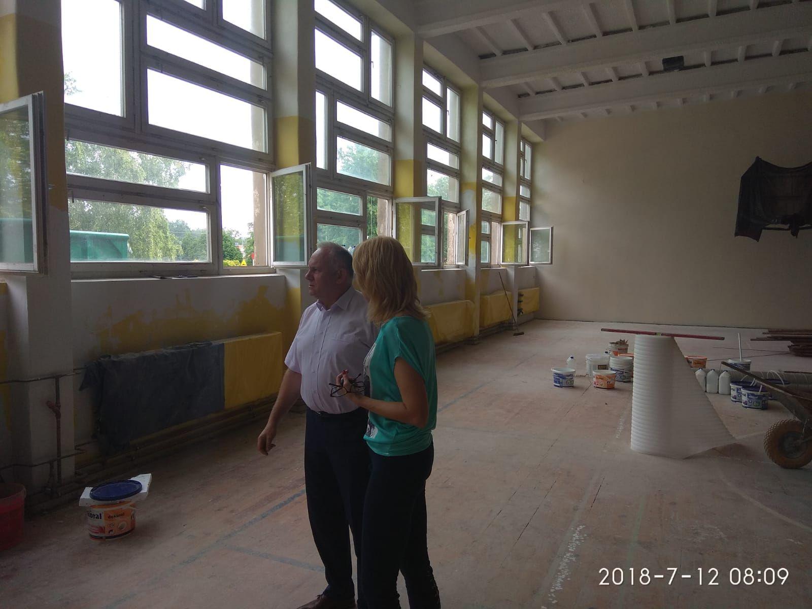 Ilustracja do informacji: Ruszył remont sali sportowej