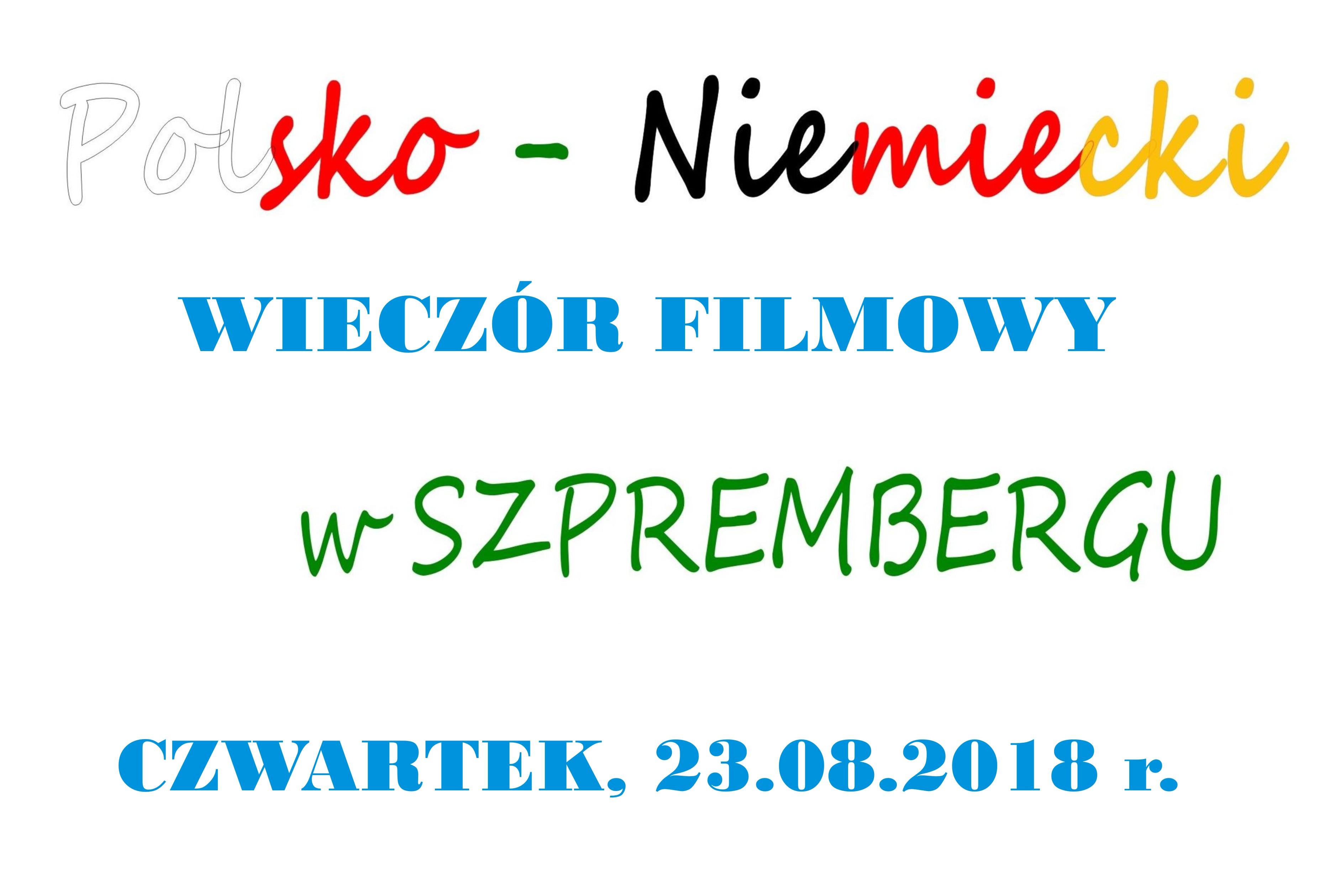 Ilustracja do informacji: Polski wieczór filmowy w Sprembergu