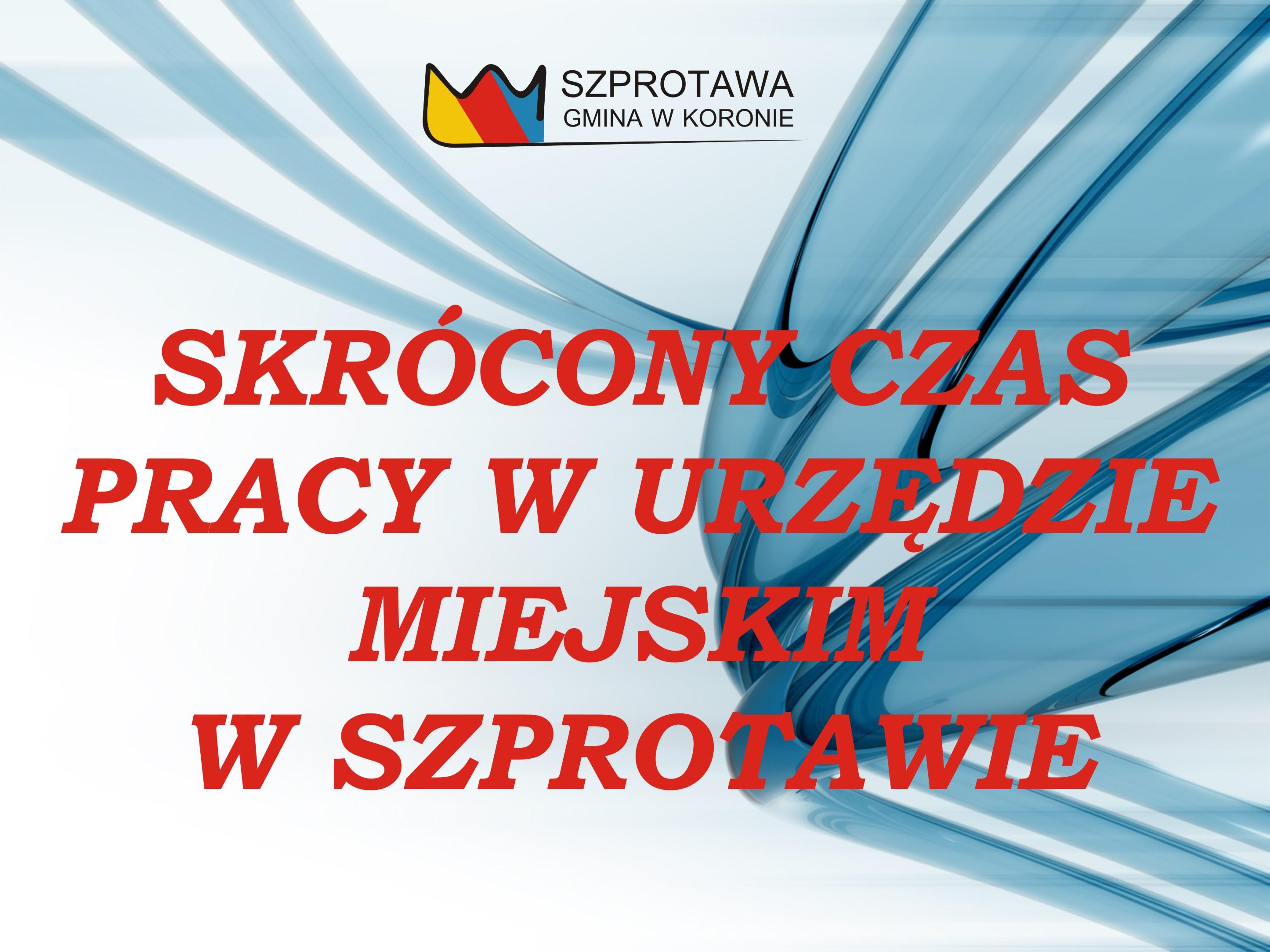 Ilustracja do informacji: Skrócony czas pracy w Urzędzie Miejskim w Szprotawie