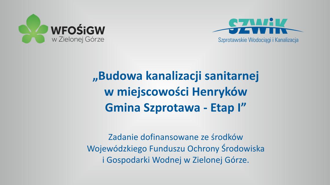 Ilustracja do informacji: Pierwszy etap budowy kanalizacji w Henrykowie zakończony