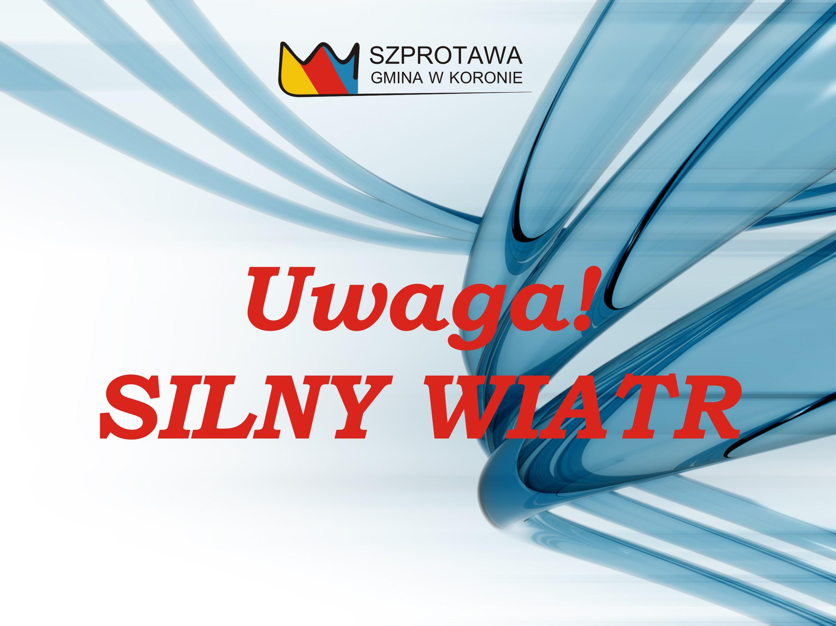 Ilustracja do informacji: Uwaga na silny wiatr!