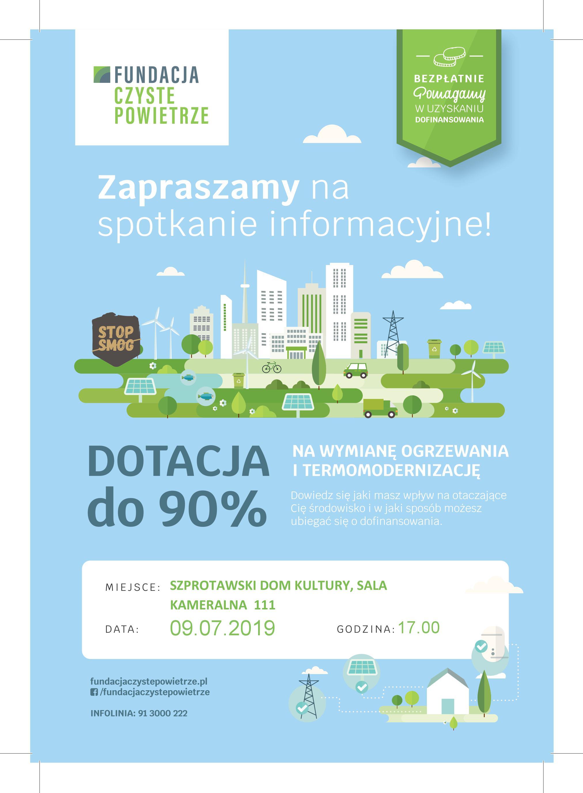 Ilustracja do informacji: Program Czyste Powietrze – spotkanie w Szprotawie