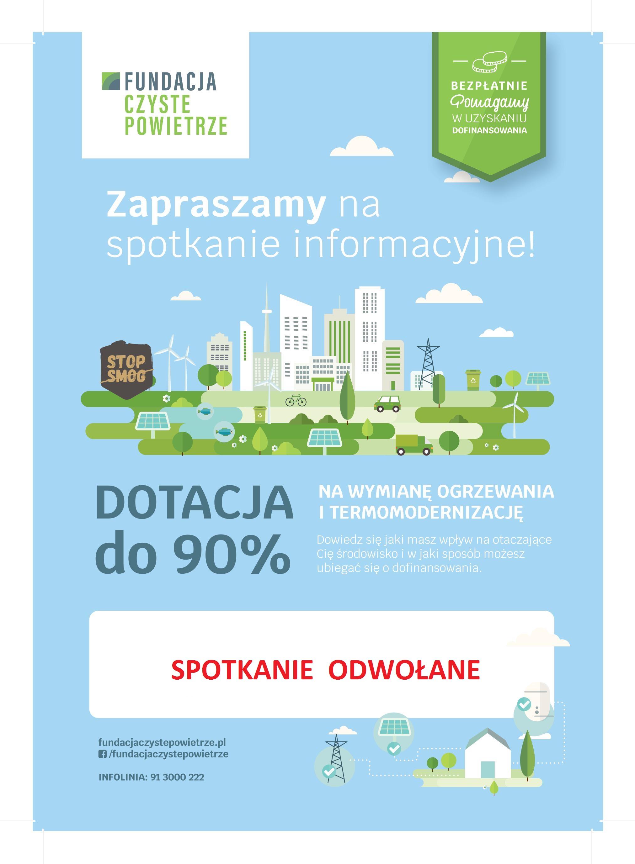 Ilustracja do informacji: Program Czyste Powietrze – spotkanie w Szprotawie odwołane