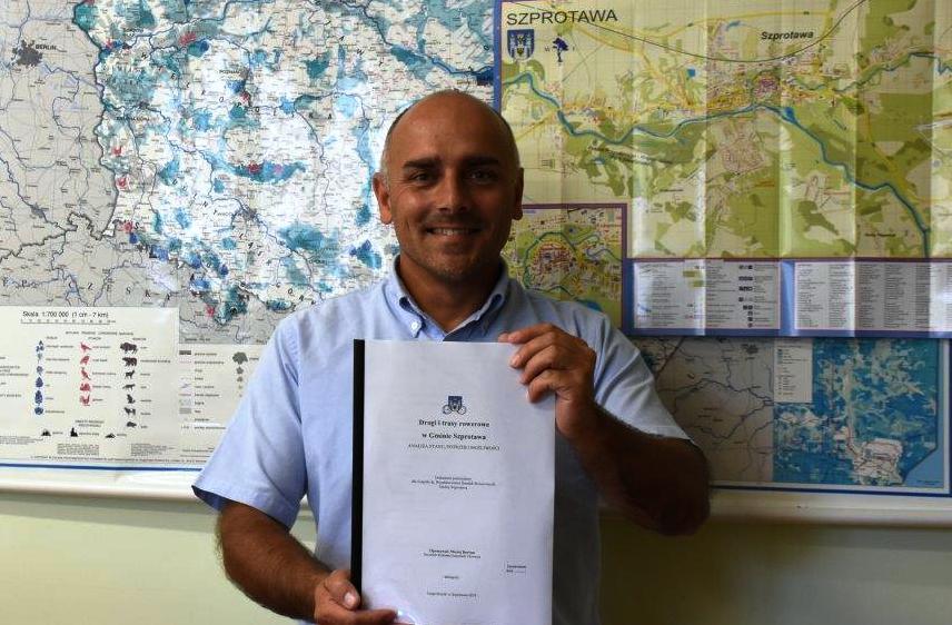 Ilustracja do informacji: Drogi i trasy rowerowe w Gminie Szprotawa