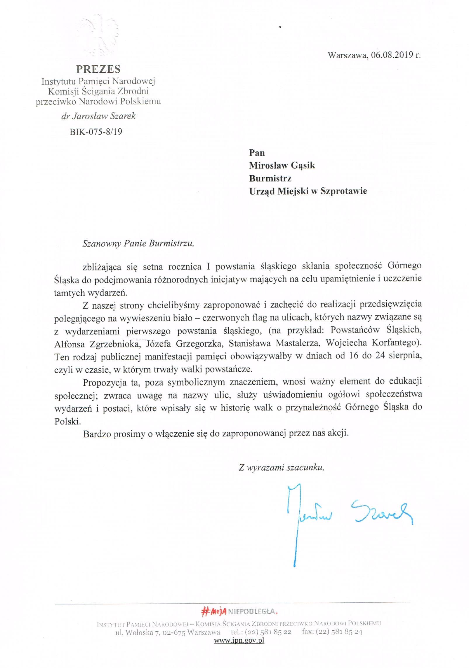 Ilustracja do informacji: Setna rocznica I powstania śląskiego