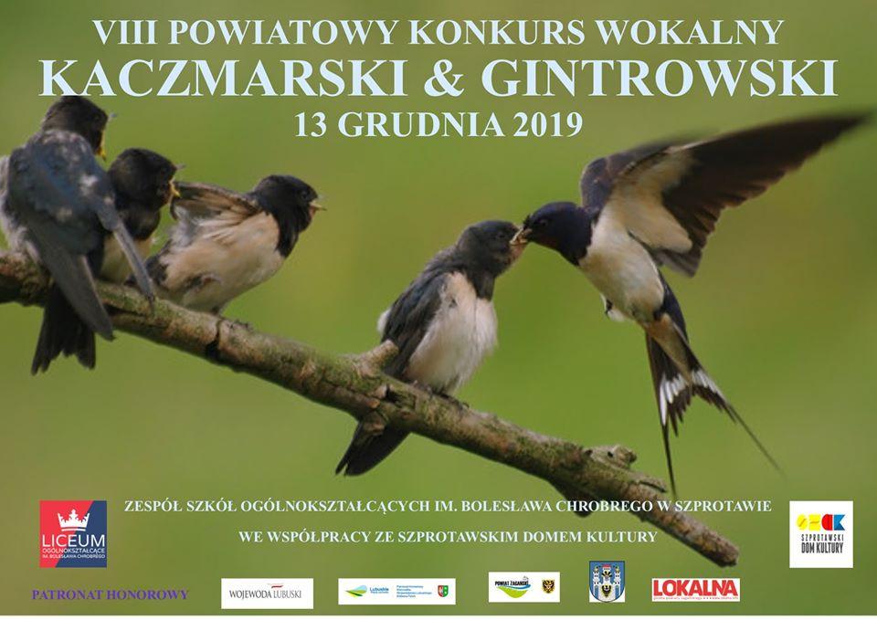 Ilustracja do informacji: VIII Powiatowy Konkurs Wokalny Kaczmarski&Gintrowski