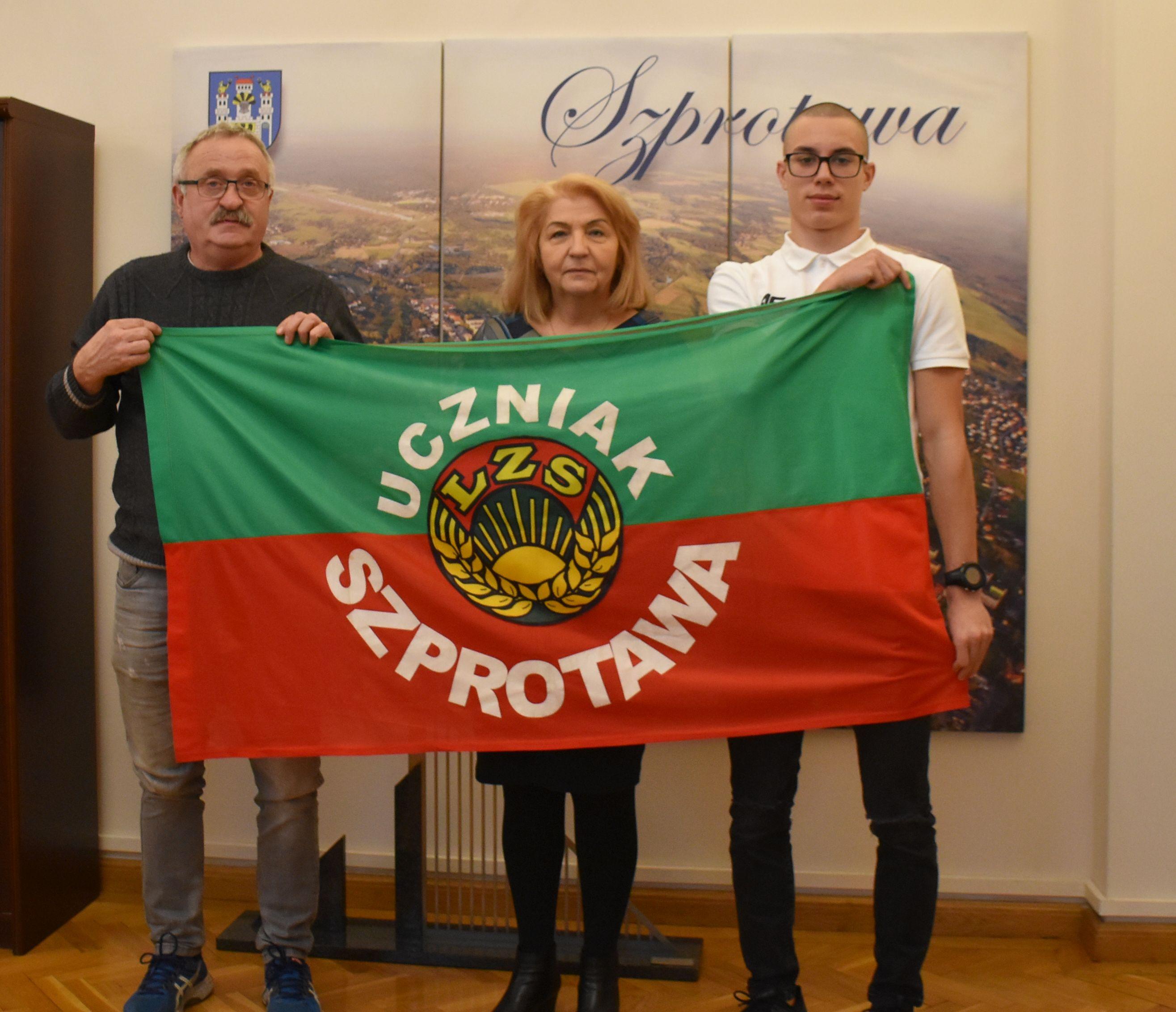 Ilustracja do informacji: Łukasz Górski - sportowa duma Szprotawy