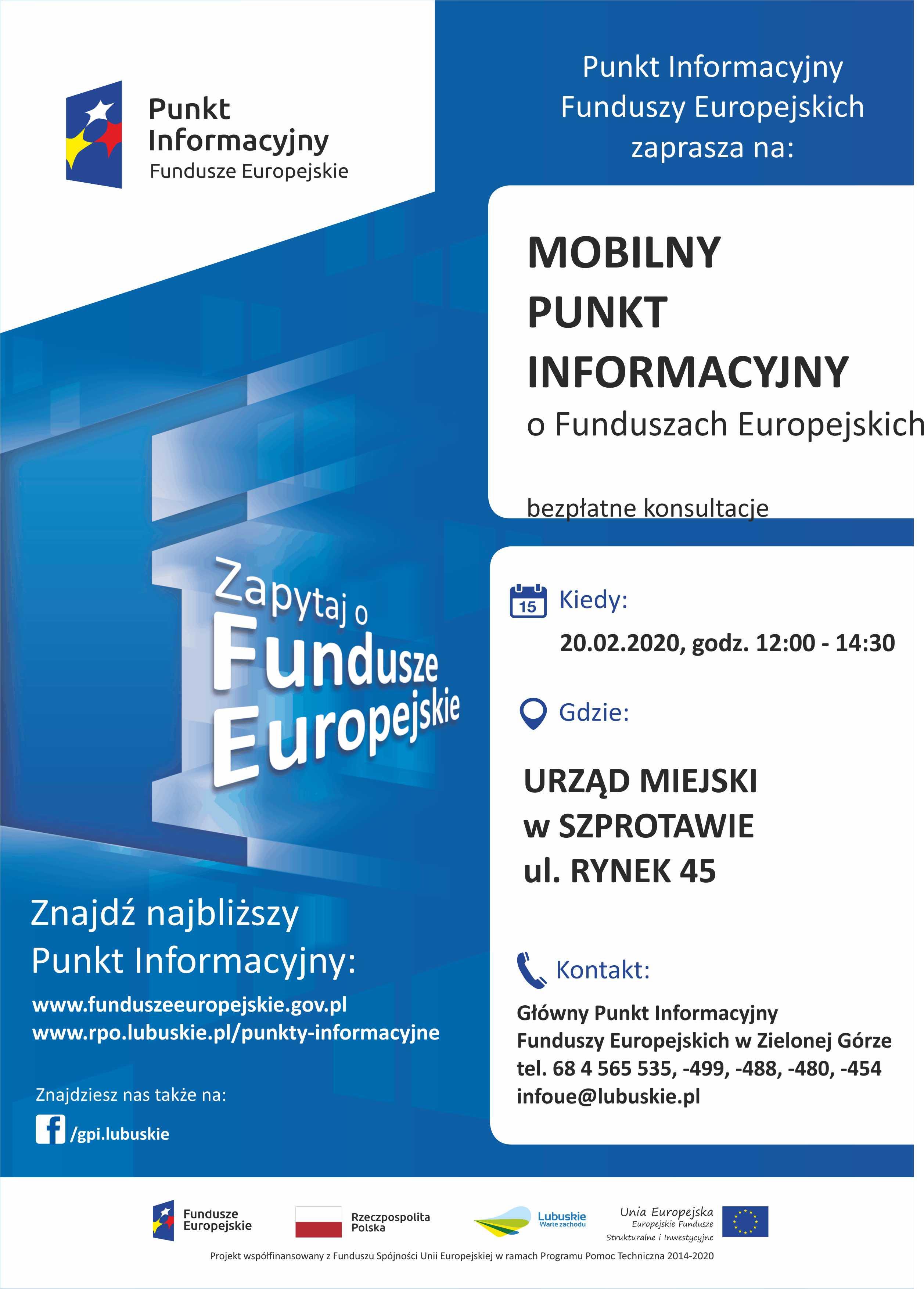 Ilustracja do informacji: MOBILNY PUNKT INFORMACYJNY W SZPROTAWIE – 20.02.2020