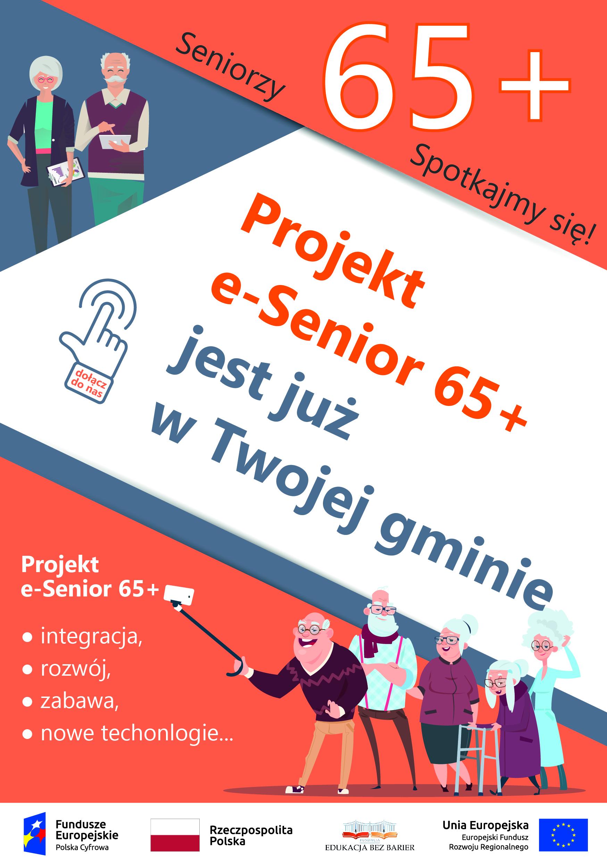Ilustracja do informacji: TRWAJĄ ZAPISY DO PROJEKTU E-SENIOR 65+