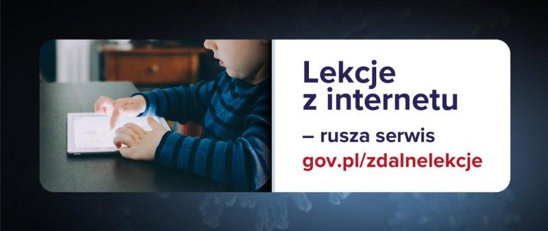 Ilustracja do informacji: Lekcje z internetu - rusza serwis gov.pl/zdalnelekcje