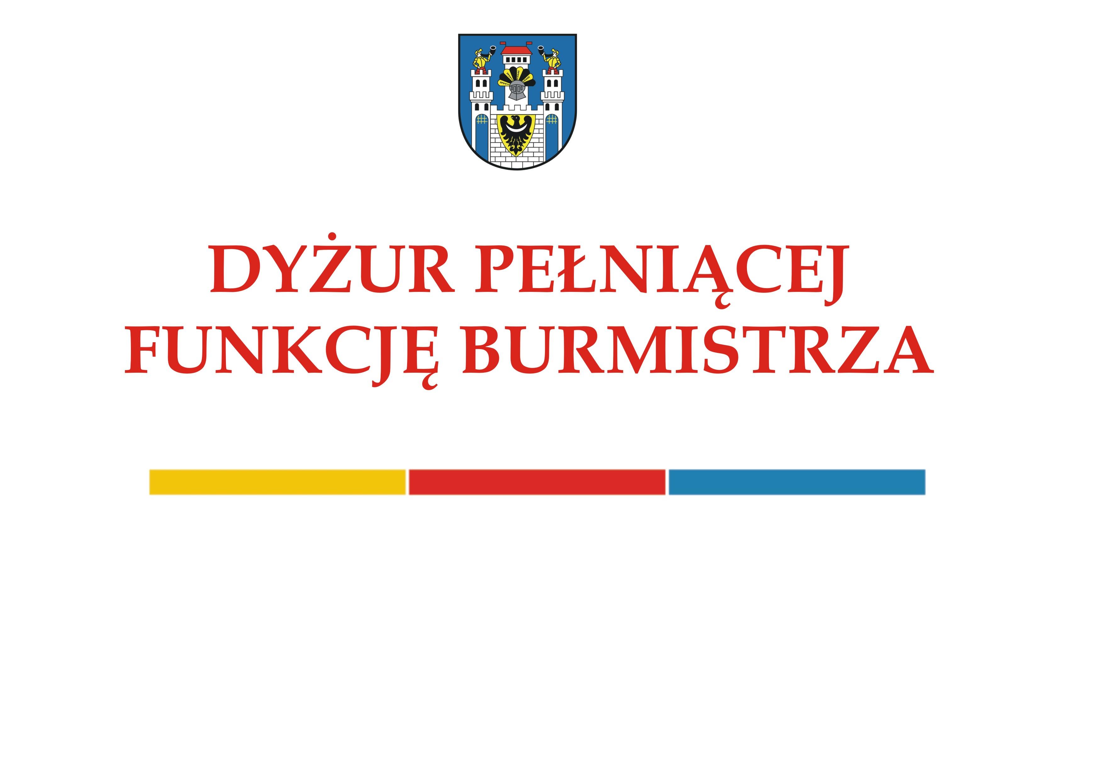 Ilustracja do informacji: Dyżur Pełniącej Funkcję Burmistrza
