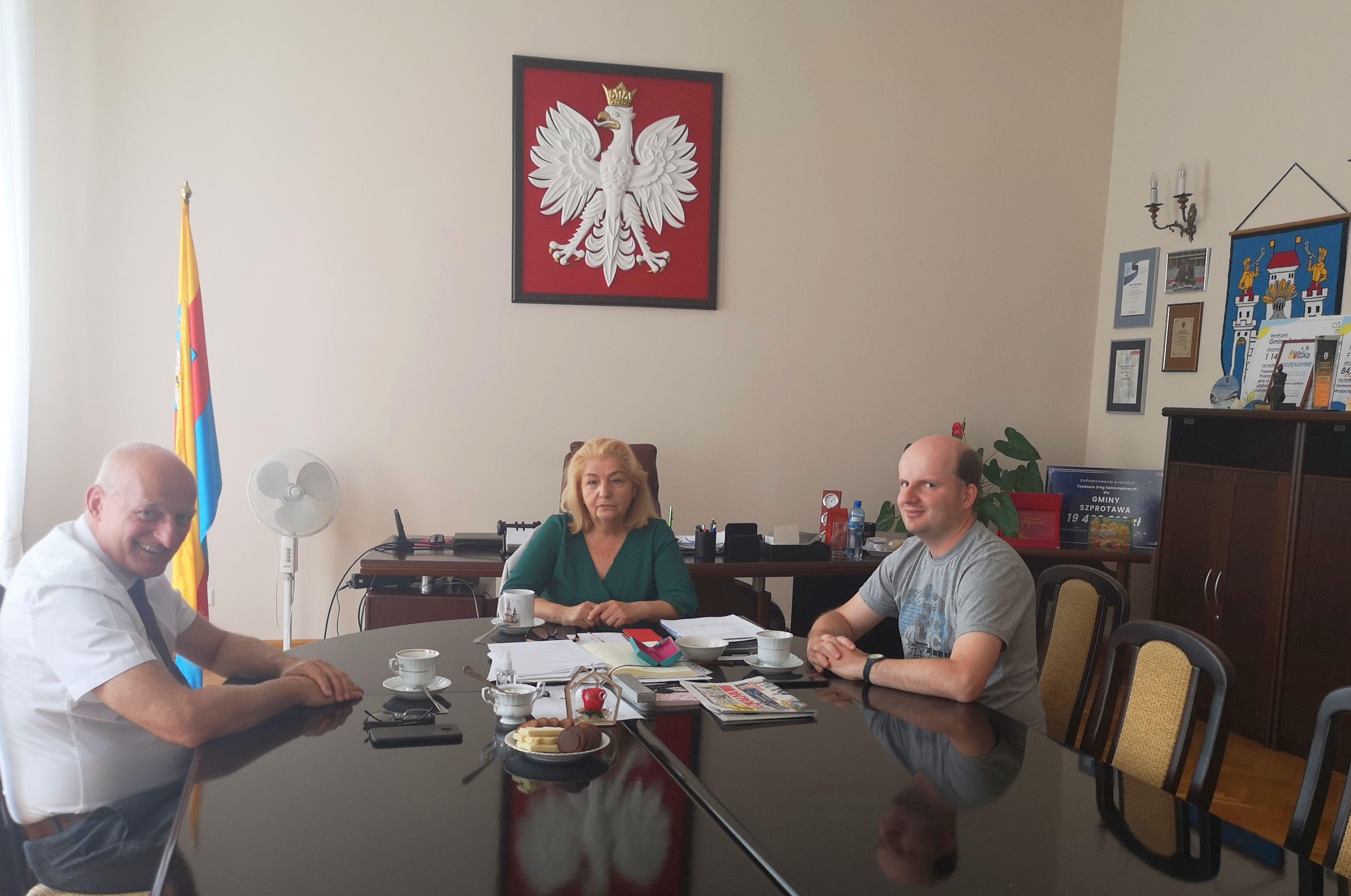 Ilustracja do informacji: Poselska wizyta w szprotawskim ratuszu