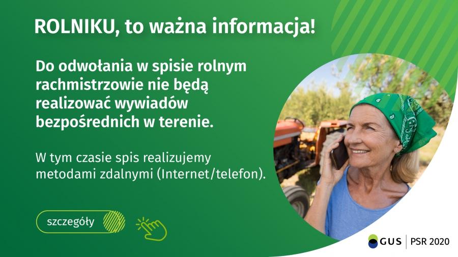 Ilustracja do informacji: Komunikat Dyrektora Centralnego Biura Spisowego!