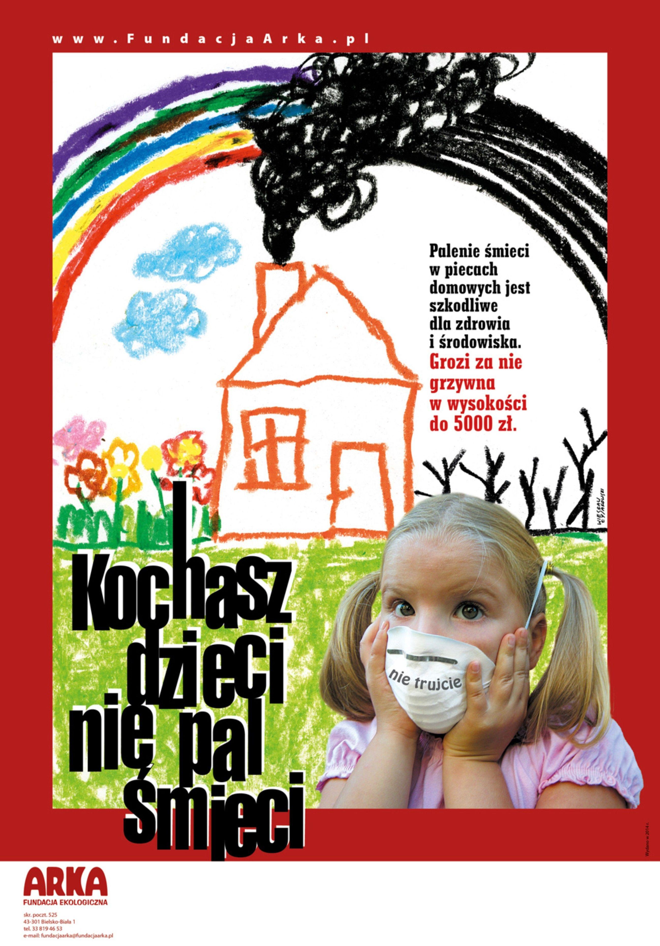 Ilustracja do informacji: Nie pal śmieci w piecu!!!