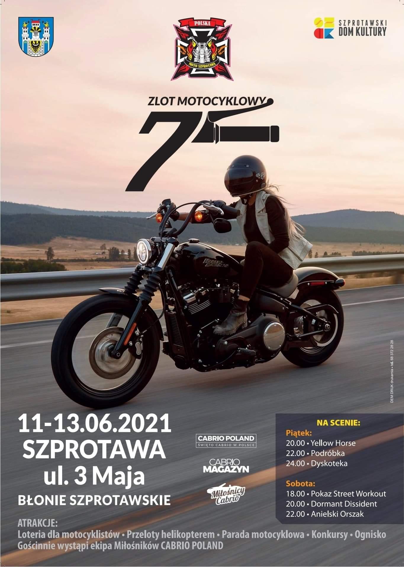 Ilustracja do informacji: Odjazdowy Zlot Motocyklowy w Szprotawie