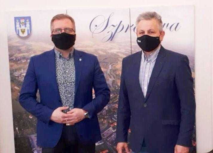 Ilustracja do informacji: Wizyta prezesa Euroregionu w Szprotawie