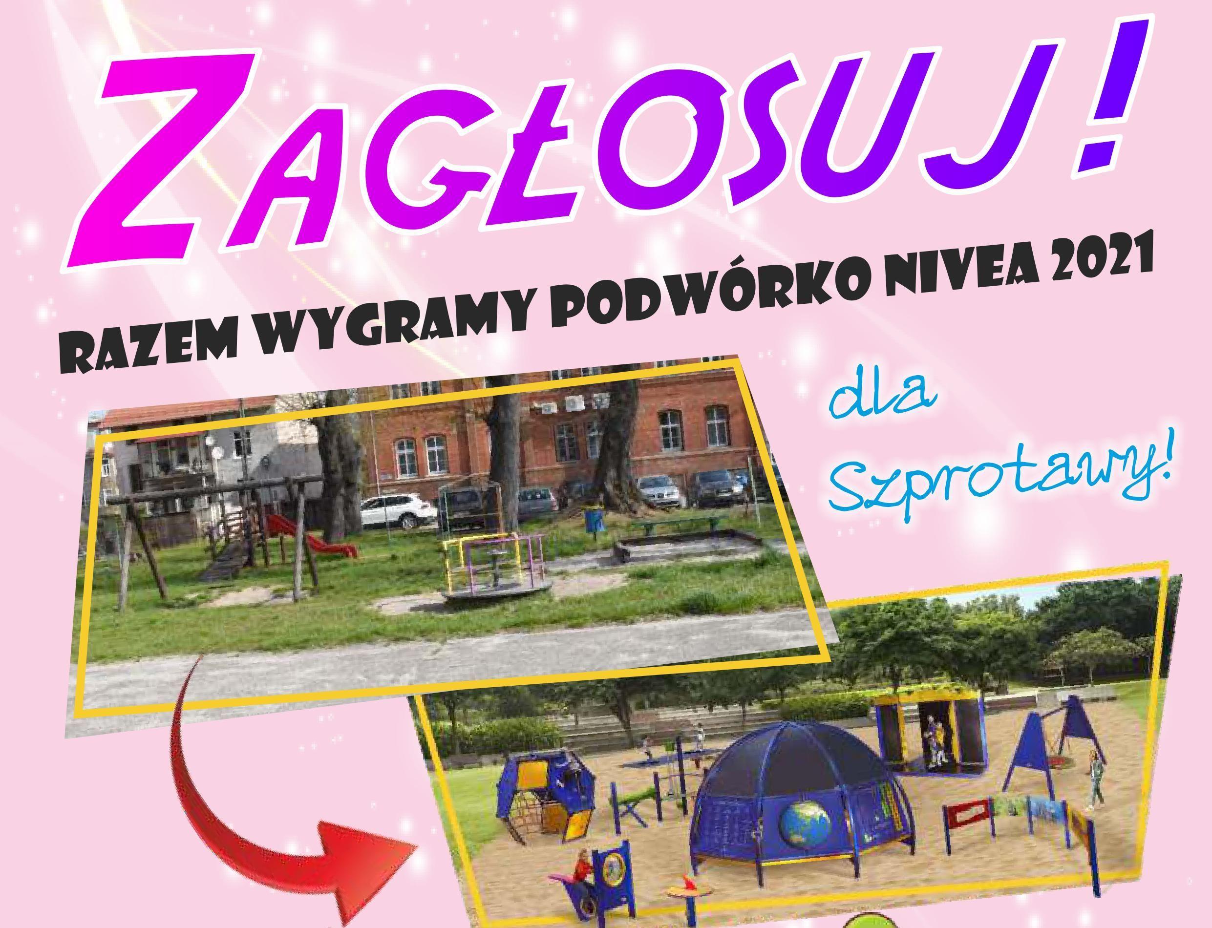 Ilustracja do informacji: Zagłosuj - razem wygramy Podwórko NIVEA dla Szprotawy!