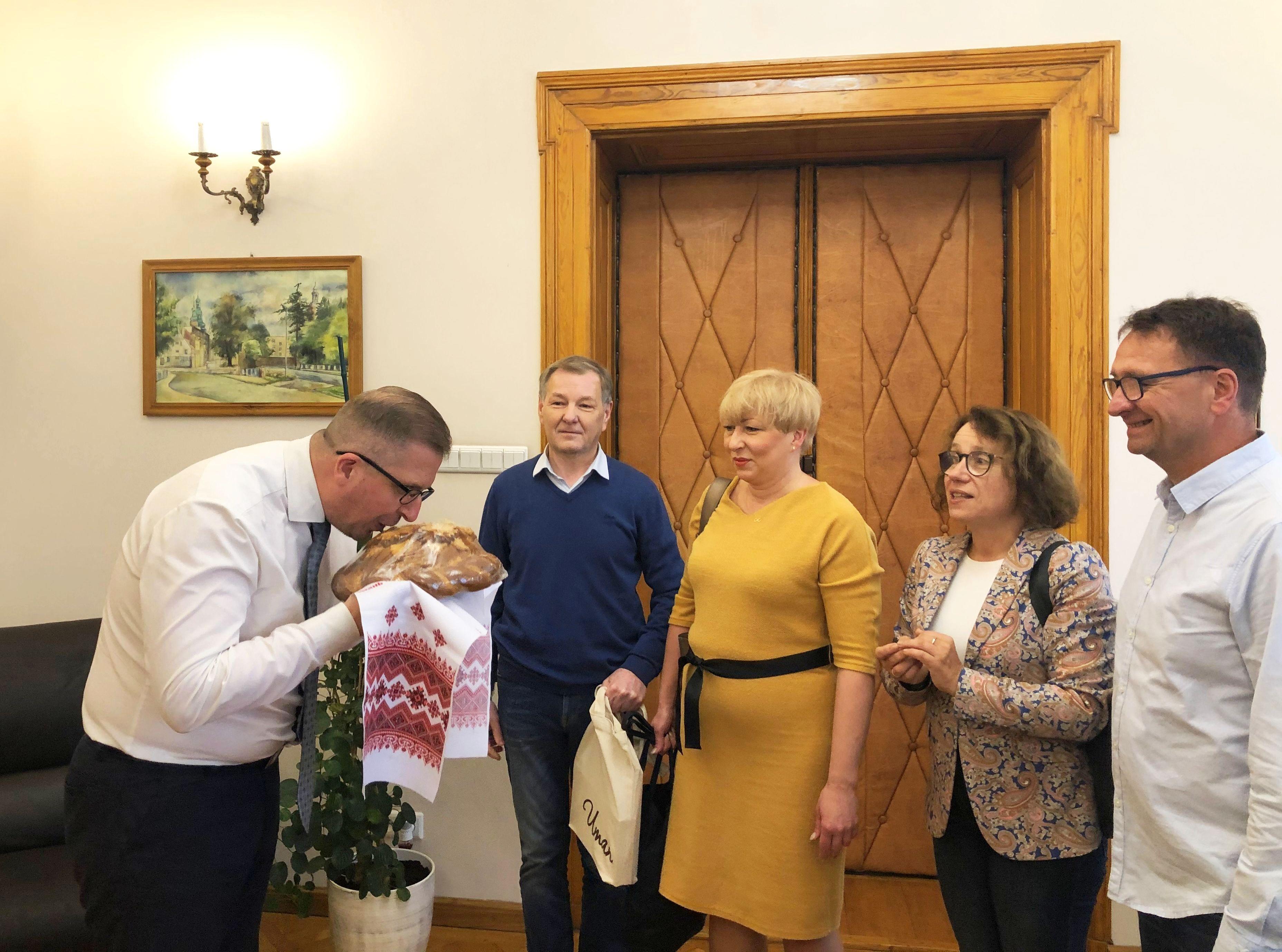 Ilustracja do informacji: Święto Umania ze szprotawską delegacją
