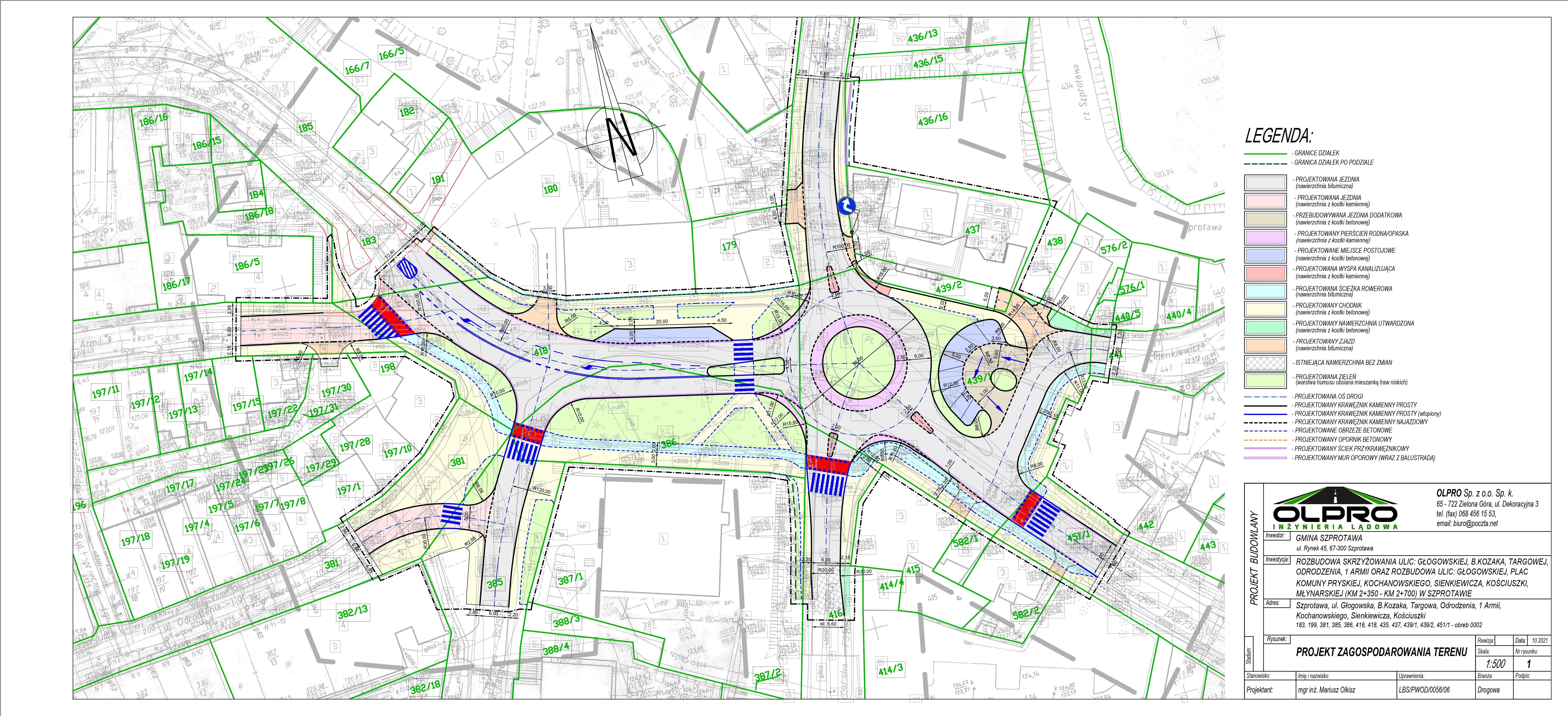 Ilustracja do informacji: Koncepcja budowy ronda i skrzyżowania gotowa!